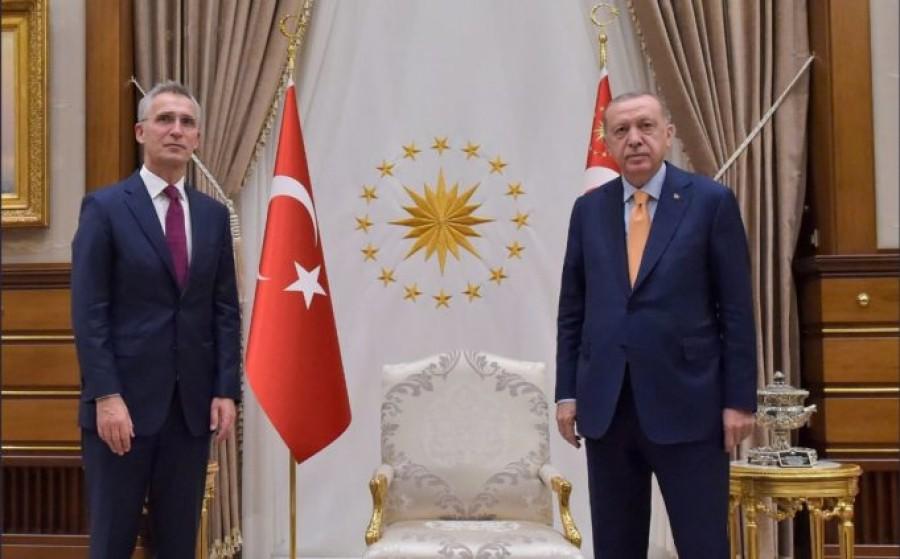 Stoltenberg (NATO): Συζητήσαμε με τον Erdogan για τον μηχανισμό αποφυγής σύγκρουσης στην Αν. Μεσόγειο