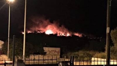 Μεγάλη φωτιά στον Σχίνο Κορινθίας - Υπό έλεγχο η φωτιά στον Διόνυσο