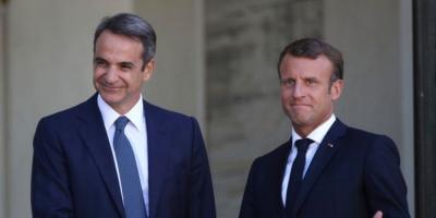 Ολοκληρώθηκε το γεύμα Μητσοτάκη - Macron