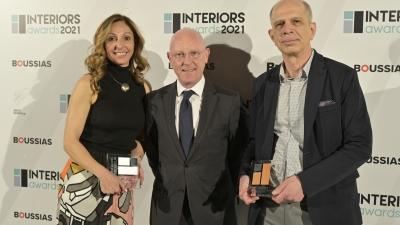 Διπλή βράβευση της Optima bank στα Interiors Awards 2021