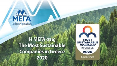 Η ΜΕΓΑ Προϊόντα Ατομικής Υγιεινής στις The Most Sustainable Companies in Greece 2020
