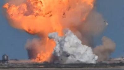 Ανατινάχθηκε κατά την προσεδάφισή του το πρωτότυπο διαστημόπλοιο της SpaceX