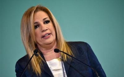 Γεννηματά: Η χώρα χρειάζεται πολιτική ανατροπή - Ο Τσίπρας φεύγει, όχι άλλο δεξιά το τιμόνι