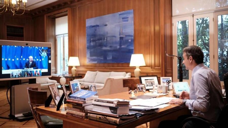 Τηλεδιάσκεψη Μητσοτάκη με Michel (ΕΕ) ενόψει της Συνόδου Κορυφής της ΕΕ στις 10 – 11/12