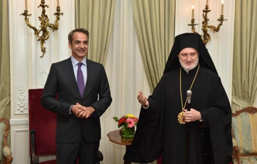 ΟΗΕ: Συνάντηση Κυριάκου Μητσοτάκη - Αρχιεπισκόπου Ελπιδοφόρου