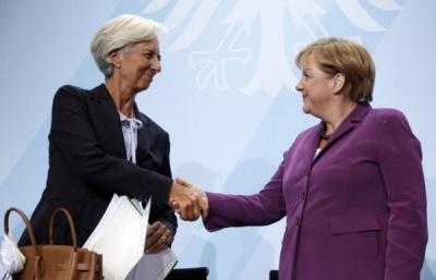 Συνάντηση Merkel – Lagarde στο Βερολίνο για το ελληνικό χρέος - Merkel: Βελτιώνεται η κατάσταση στην Ελλάδα