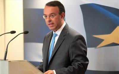 Ο Σταϊκούρας «βλέπει» μείωση των πλεονασμάτων από το 2021 - Στόχος, η νομοθέτηση του «Ηρακλή» την επόμενη εβδομάδα