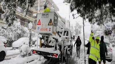 Κακοκαιρία Μήδεια - Χιόνιζε επί 36 ώρες - Αποκαθίστανται σταδιακά τα προβλήματα ηλεκτροδότησης