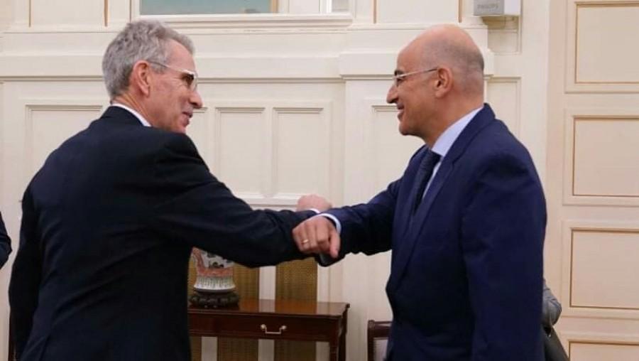 Συνάντηση Δένδια (ΥΠΕΞ) - Pyatt (πρέσβης ΗΠΑ) - Στο επίκεντρο οι προκλήσεις της Τουρκίας