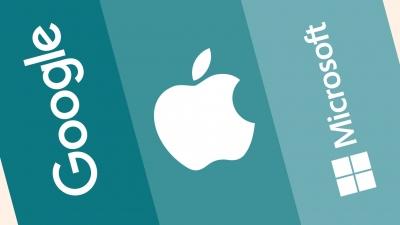 Kέρδη 56,8 δισ. δολάρια για Alphabet, Microsoft, Apple το β' τρίμηνο 2021