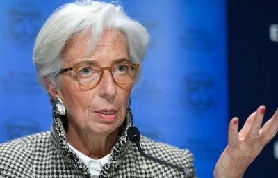Lagarde (EKT): Η πορεία προς την ανάκαμψη της Ευρωζώνης επιβραδύνεται αλλά δεν έχει εκτροχιαστεί