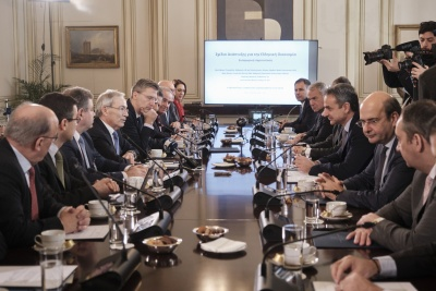 Στο ΚΥΣΟΙΠ οι βασικοί άξονες για την ανάπτυξη - Μητσοτάκης: Φιλόδοξο το σχέδιό μας - Πισσαρίδης: Πολιτική βούληση για μεταρρυθμίσεις