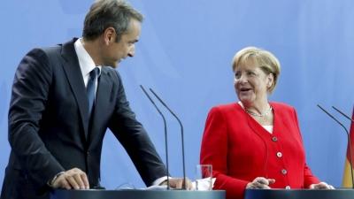 Αύριο στις 10:50 η συνάντηση Μητσοτάκη - Merkel στο Μέγαρο Μαξίμου