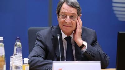 Αναστασιάδης (Κύπρος): Με τις έκνομες ενέργειές της, η Τουρκία βάζει ταφόπλακα στις διαπραγματεύσεις για το Κυπριακό