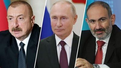 Επικοινωνία Putin με Aliyev (Αζερμπαϊτζάν) και Pashinyan (Αρμενία) για το Nagorno Karabakh