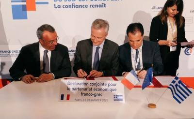Ελληνο-γαλλική συνεργασία για εκατέρωθεν επενδύσεις υπέγραψαν Σταϊκούρας και Le Maire