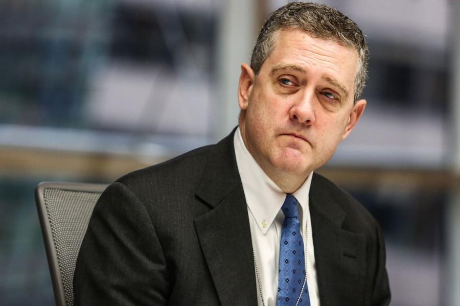«Στροφή» Bullard: Η Fed πρέπει να μειώσει άμεσα τα έκτακτα μέτρα στήριξης