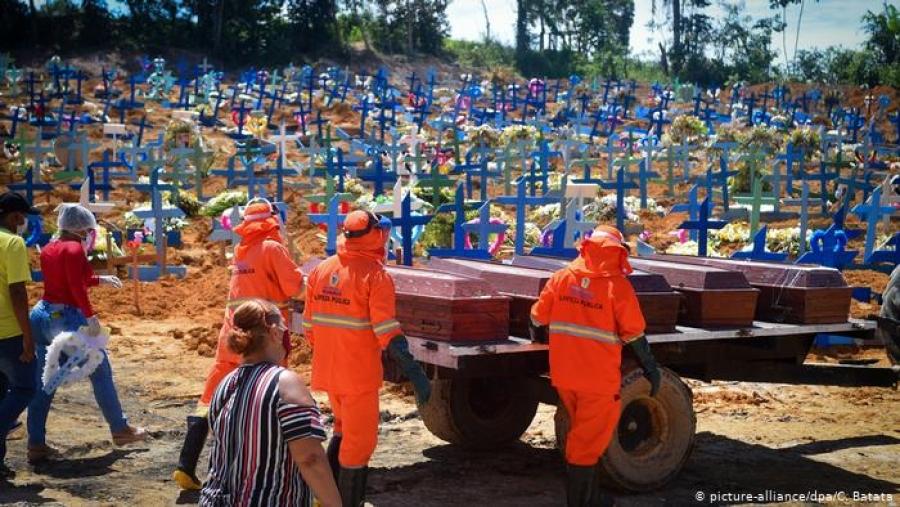 Βραζιλία: Πάνω από 550 χιλ. οι νεκροί από covid 19 - Ο 2ος βαρύτερος απολογισμός στον πλανήτη