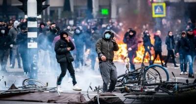 Διαδηλώσεις κατά του lockdown σε Ολλανδία, Βέλγιο και Αυστρία
