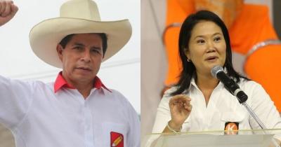 Προεδρικές εκλογές Περού - Μάχη στήθος με στήθος για Pedro Castillo Καστίγιο και Keiko Fujimori