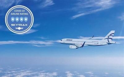 Διάκριση για την Aegean - Αναγνωρίζεται από τη Skytrax ως από τις κορυφαίες παγκοσμίως για τα μέτρα υγιεινής