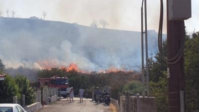Φωτιά στην περιοχή Παραδείσι στην Κω