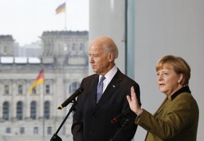 Ο χρόνος πιέζει Merkel και Biden - Μεγάλο «αγκάθι» ο Nord Stream 2, δεν αναμένεται συμφωνία