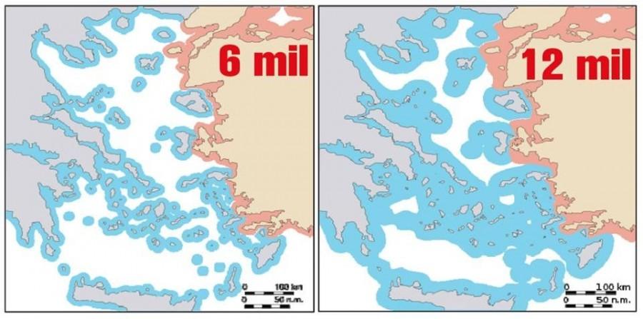H Τουρκία ανησυχεί ότι η Ελλάδα θα επεκτείνει τα χωρικά ύδατα στα 12 μίλια στο Αιγαίο... αλλά στην πράξη είναι αδύνατο