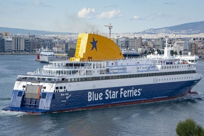 Attica Group: Ολοκληρώθηκε η εγκατάσταση πλυντηρίδων καυσαερίων στο Blue Star Myconos