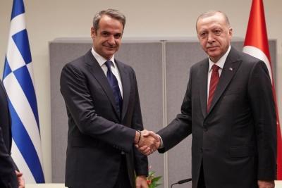 Θετική διάθεση για επανεκκίνηση στις ελληνοτουρκικές σχέσεις από την συνάντηση Μητσοτάκη - Erdogan