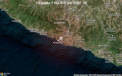 Μεξικό: Σεισμός 7,1 Ρίχτερ κοντά στο Ακαπούλκο – Ένας νεκρός