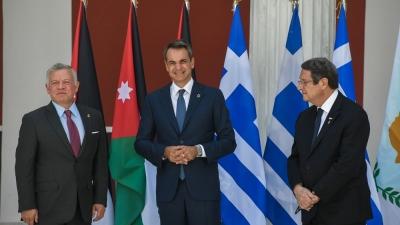 Κοινή Δήλωση Ελλάδας - Ιορδανίας – Κύπρου: Στήριξη σε μία δίκαιη, συνολική και βιώσιμη επίλυση του Κυπριακού