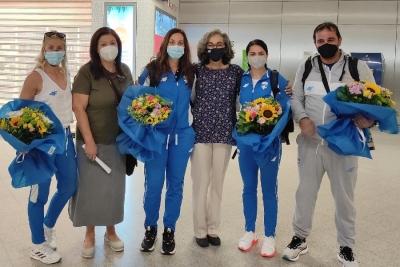 Ολυμπιακοί Αγώνες: Έφτασαν στη Αθήνα οι Παπαχρήστου, Αναγνωστοπούλου και Σπανουδάκη