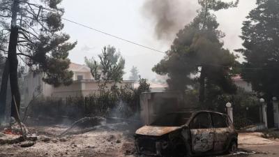ΕΛ.ΑΣ: Προσαγωγή υπόπτου για τη φωτιά σε Σταμάτα - Ροδόπολη