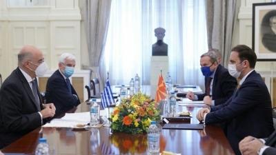 Τρία μνημόνια συνεργασίας υπέγραψαν Δένδιας - Osmani (Β. Μακεδονία) - Τι είπαν για συμφωνία Πρεσπών