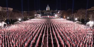 Η ασυνήθιστη ορκωμοσία Biden: Εκατοντάδες χιλιάδες σημαίες - Οχυρό η Ουάσιγκτον