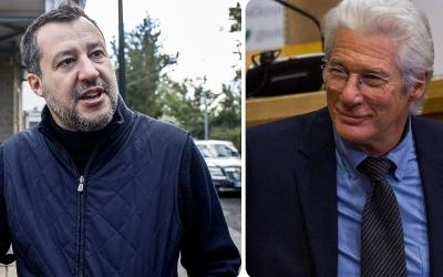 Salvini εναντίον Richard Gere: Πόσο σοβαρή μπορεί να είναι μία δίκη με μάρτυρα έναν ηθοποιό του Hollywood