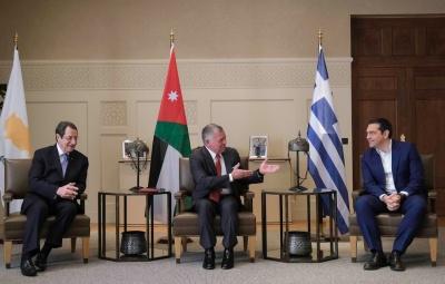 Τσίπρας: Ενδυναμώνει η συνεργασία Ελλάδας – Κύπρου - Ιορδανίας την ειρήνη και σταθερότητα στην Ανατολική Μεσόγειο