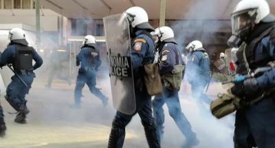 Ένταση στο κέντρο της Αθήνας στην πορεία για τον Δημήτρη Κουφοντίνα