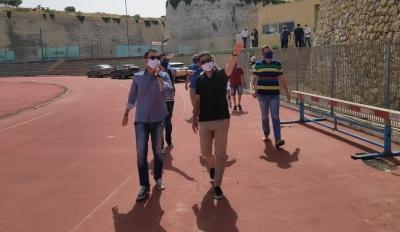 Επίσκεψη Αυγενάκη στις εγκαταστάσεις του Εθνικού Αθλητικού Κέντρου Ηρακλείου