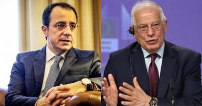 Τηλεφωνική επικοινωνία Borrell – Χριστοδουλίδη για Κυπριακό και Τουρκία