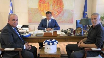 Το επενδυτικό σχέδιο της Cosco στο επίκεντρο της συνάντησης Γεωργιάδη - Μώραλη