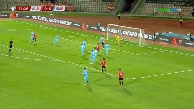 Αλβανία - Σαν Μαρίνο 1-0: Ο Μανάι βάζει μπροστά στο σκορ τους γηπεδούχους (video)