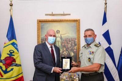 Με ατζέντα την Ανατολική Μεσόγειο η συνάντηση του αρχηγού ΓΕΕΘΑ Κ. Φλώρου με τον βοηθό ΥΠΕΞ των ΗΠΑ Cooper