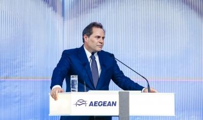 Βασιλάκης (Aegean): Στα 600 εκατ. ευρώ η ρευστότητα - Πωλήσεις εισιτηρίων στο 75% του 2019