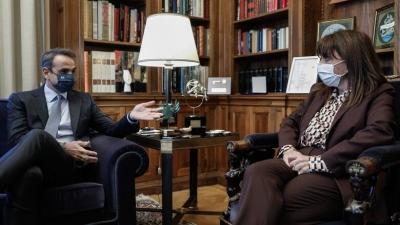 Συνάντηση Μητσοτάκη – Σακελλαροπούλου στις 11:00 στο Προεδρικό Μέγαρο