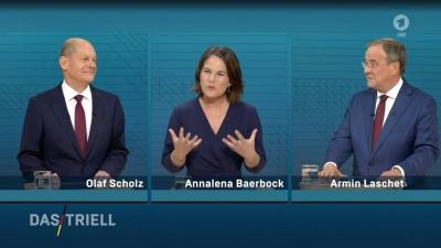 Γερμανία - Το SPD διατηρεί το προβάδισμα έναντι CDU/CSU - Στο 48% ο Scholz, στο 22% ο Laschet