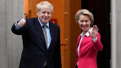 Brexit: Johnson και Von der Leyen συμφώνησαν να «εργασθούν εντατικά» για την επίτευξη εμπορικής συμφωνίας