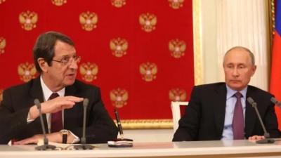 Στο πλευρό της Κύπρου η Ρωσία - Putin: Απαράδεκτες οι ενέργειες στα Βαρώσια - Η επιστολή σε Αναστασιάδη