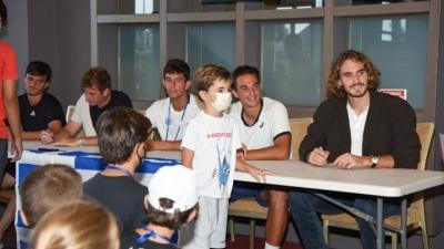 Στην Κρήτη ενόψει Davis Cup ο Τσιτσιπάς